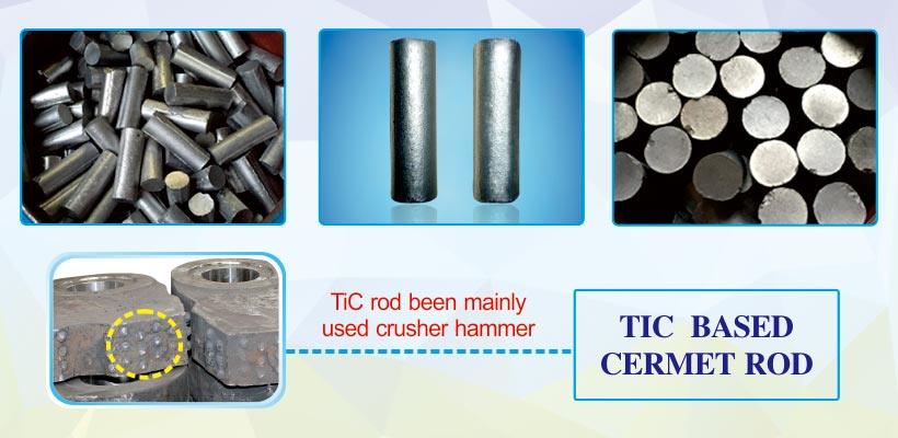 TM52 TiC titanium carbide based cermets steel bonded ferro-tic carbide and alloy rods products details