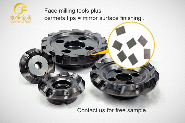 TiCN Cermets Plate on face mill