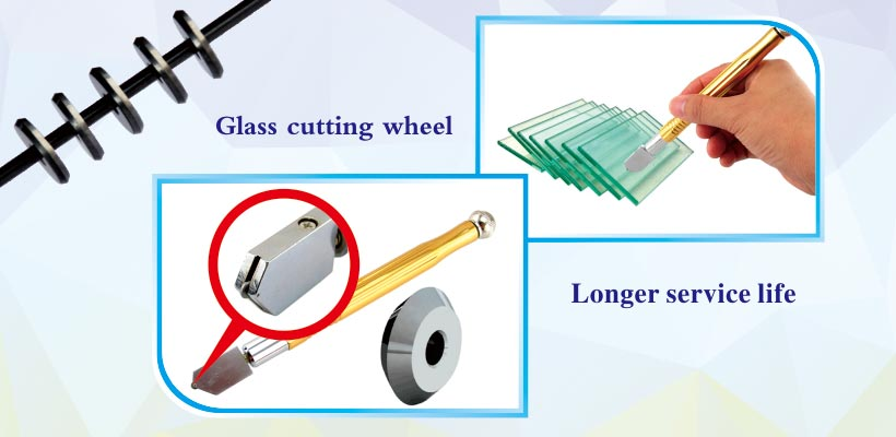 manual glass cutter Tungsten Carbide Replacement scoring glass cutting wheels products applications
